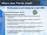 where does florida stand