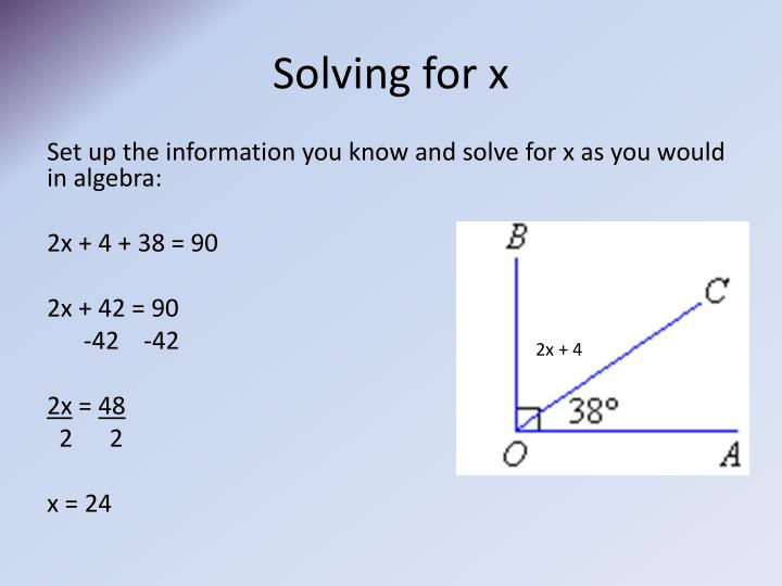 Solving for x