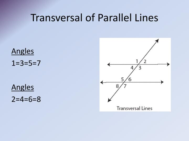 Transversal of Parallel Lines