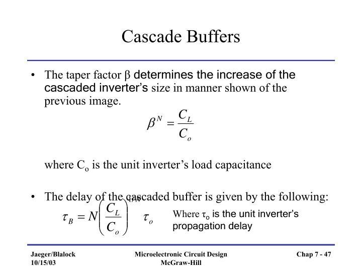 Cascade Buffers