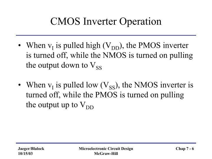 CMOS Inverter Operation