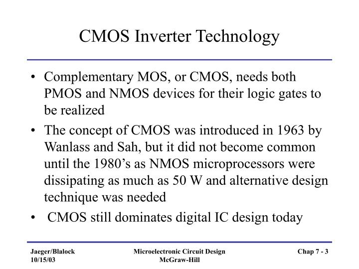 CMOS Inverter Technology