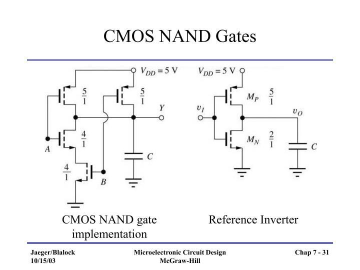 CMOS NAND Gates