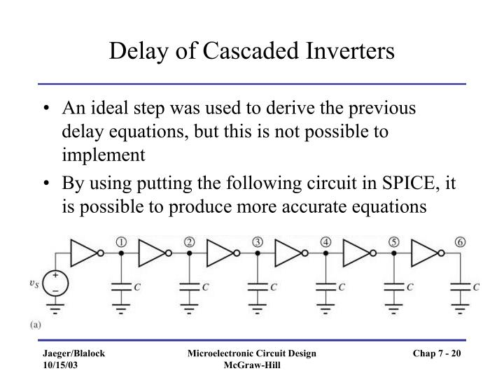 Delay of Cascaded Inverters