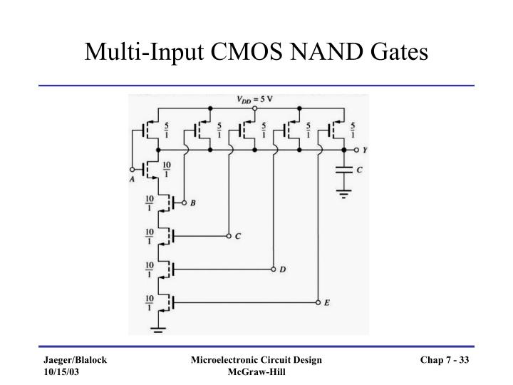 Multi-Input CMOS NAND Gates