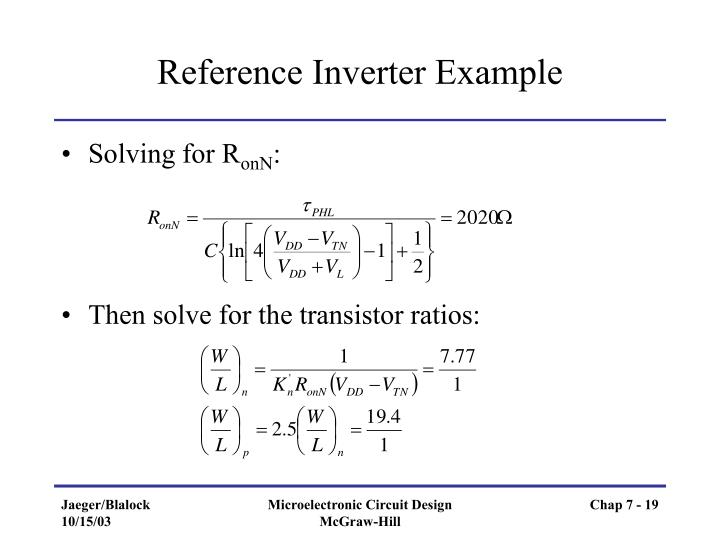 Reference Inverter Example