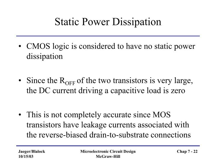 Static Power Dissipation
