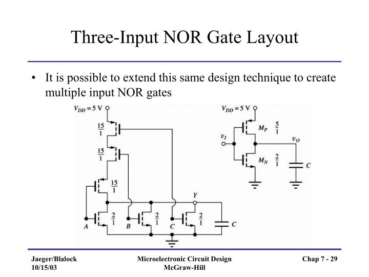 Three-Input NOR Gate Layout