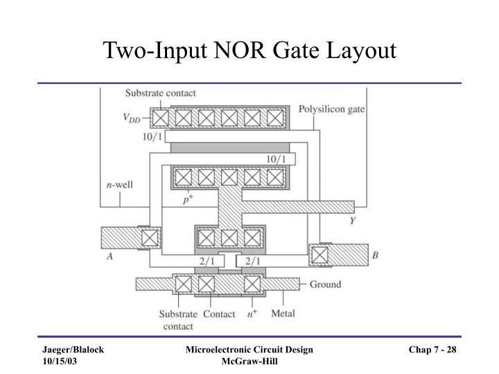 Two-Input NOR Gate Layout