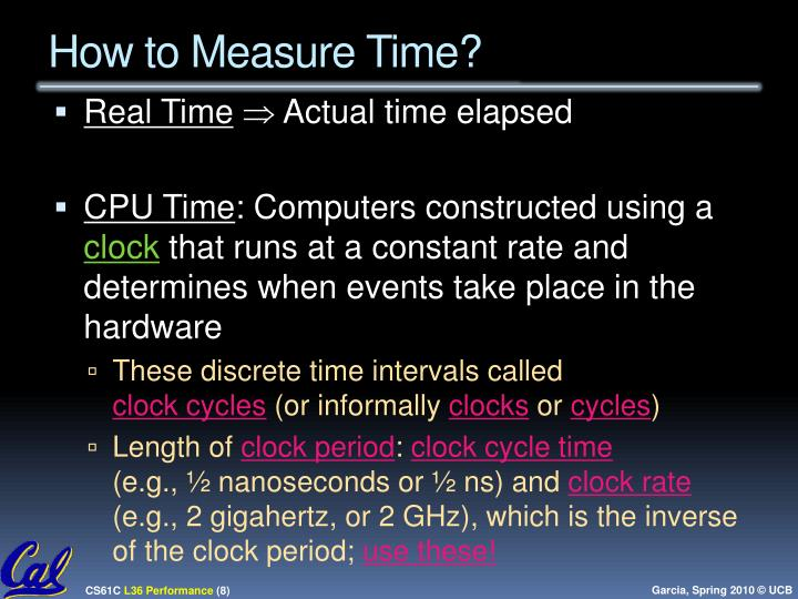 How to Measure Time?