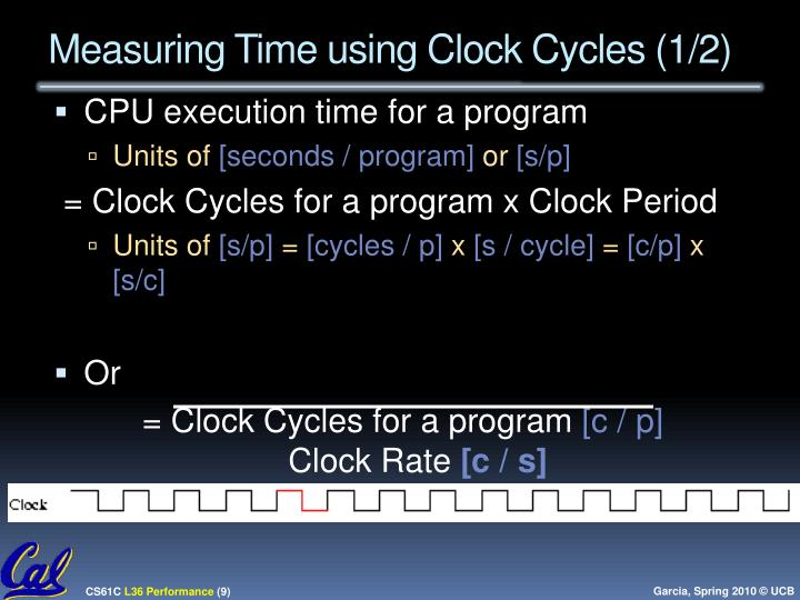 Measuring Time using Clock Cycles (1/2)