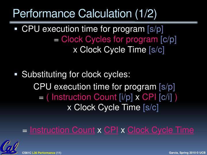 Performance Calculation (1/2)