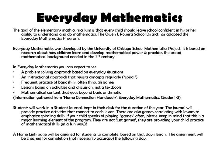 Everyday Mathematics