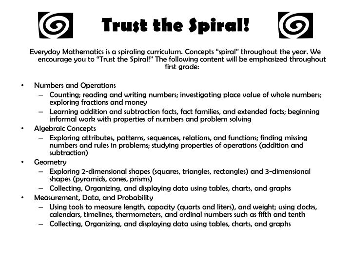 Trust the Spiral!