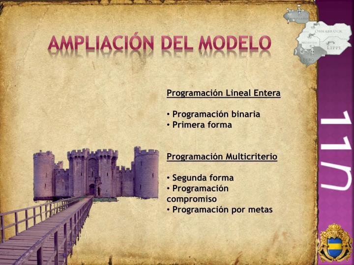 Ampliación del modelo