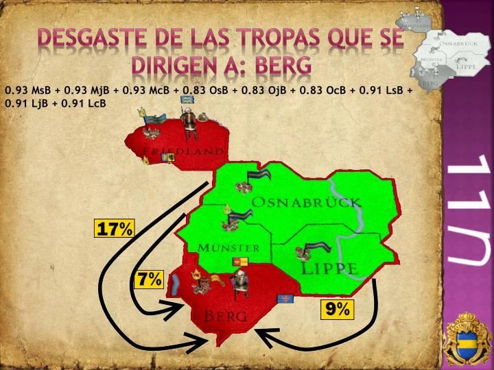 Desgaste de las tropas que se dirigen a: Berg