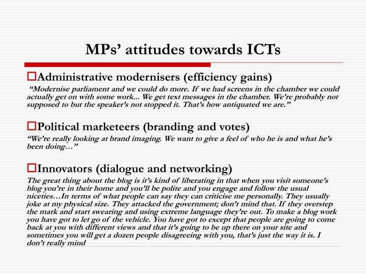 MPs' attitudes towards ICTs