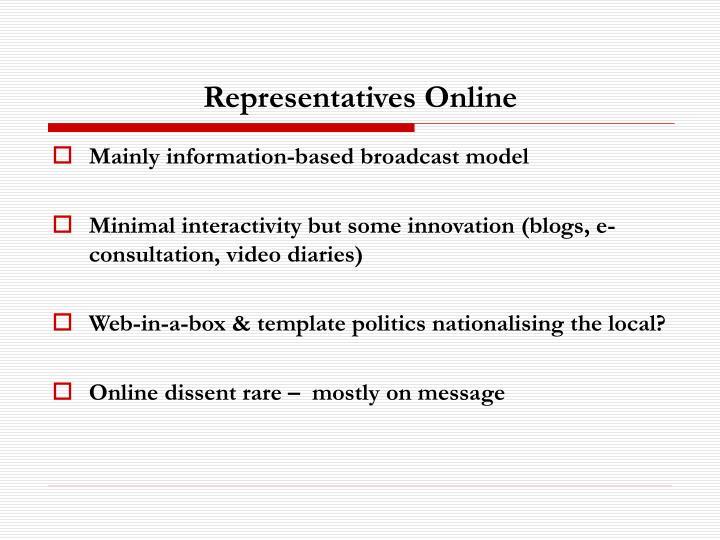 Representatives Online