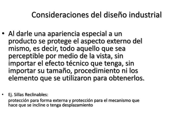 Consideraciones del diseño industrial