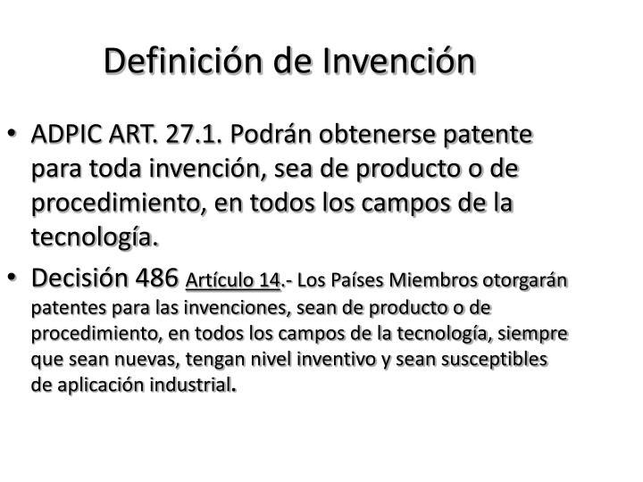 Definición de Invención