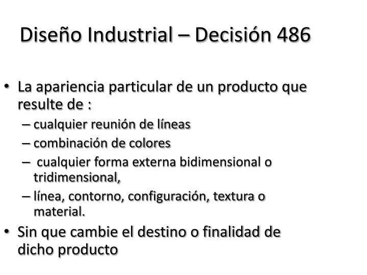 Diseño Industrial – Decisión 486