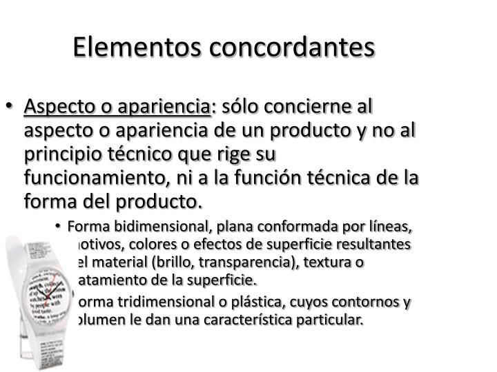 Elementos concordantes