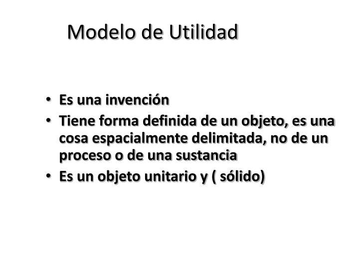 Modelo de Utilidad