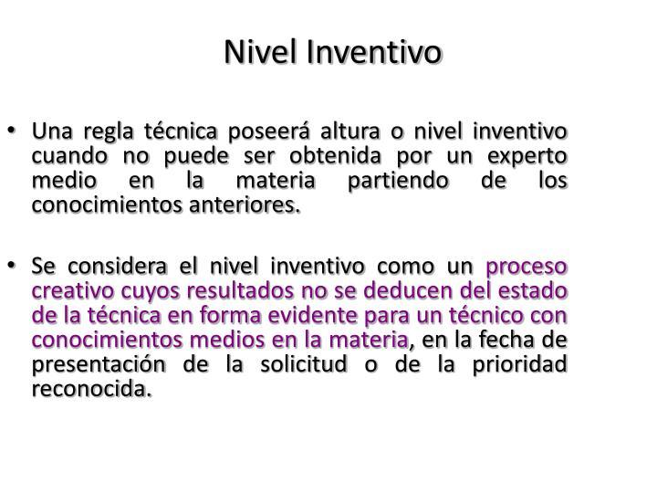 Nivel Inventivo
