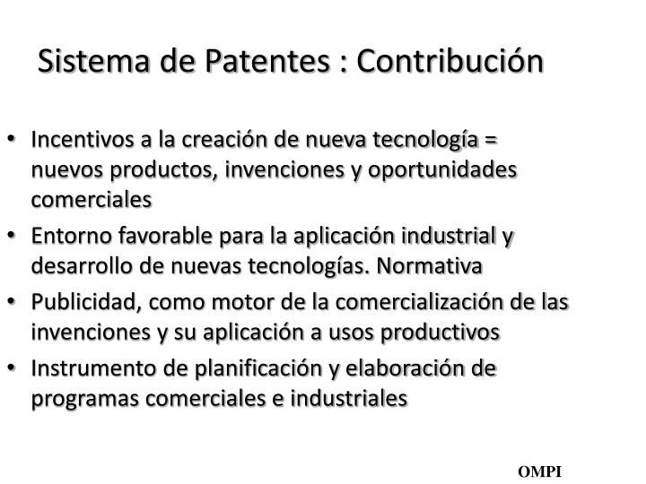 Sistema de Patentes : Contribución