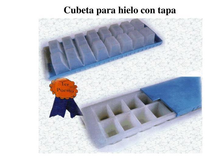 Cubeta para hielo con tapa