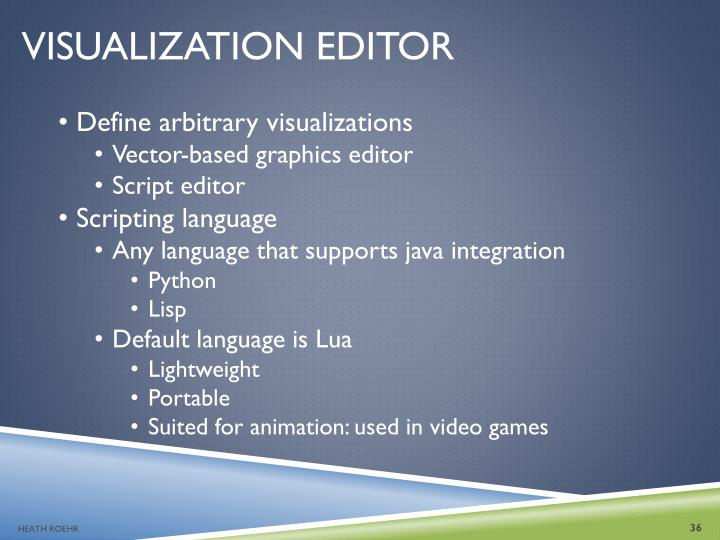 VISUALIZATION EDITOR