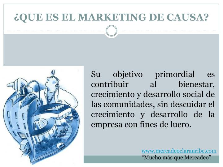 ¿QUE ES EL MARKETING DE CAUSA?