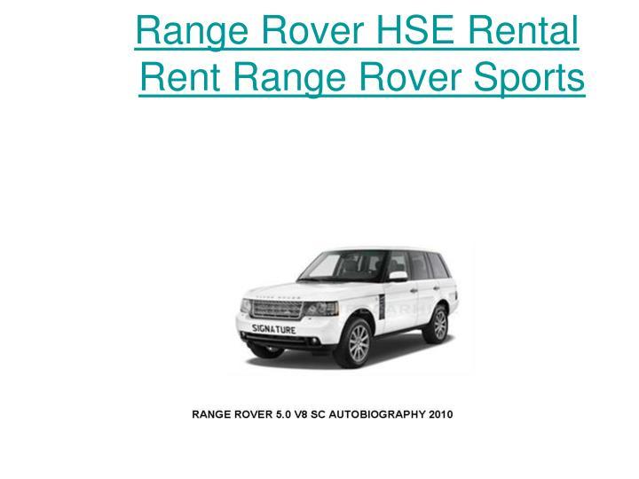 Range Rover HSE Rental