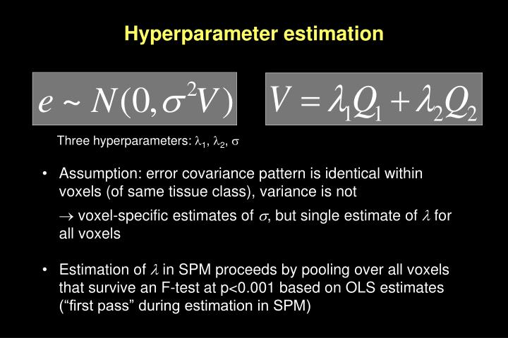 Hyperparameter estimation