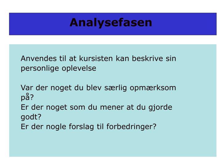 Analysefasen