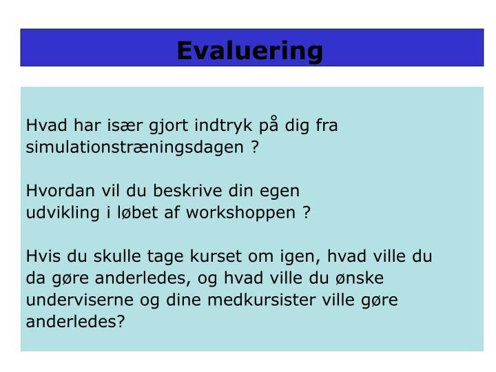 Evaluering