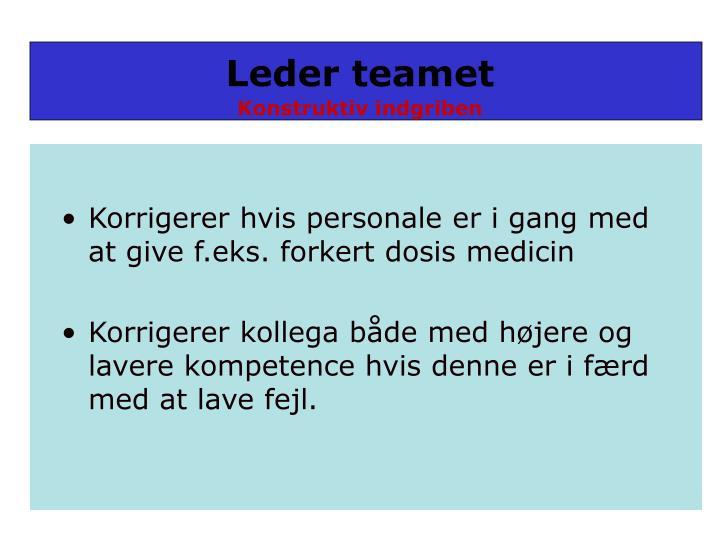 Leder teamet