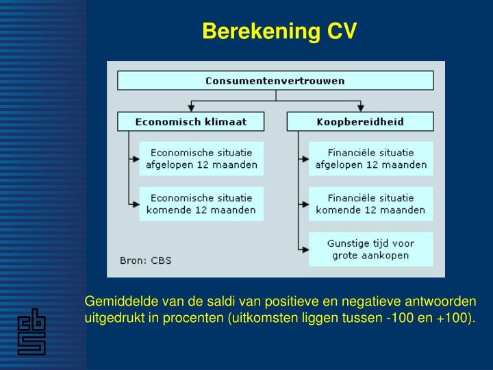 Berekening CV