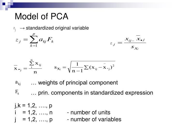 Model of PCA
