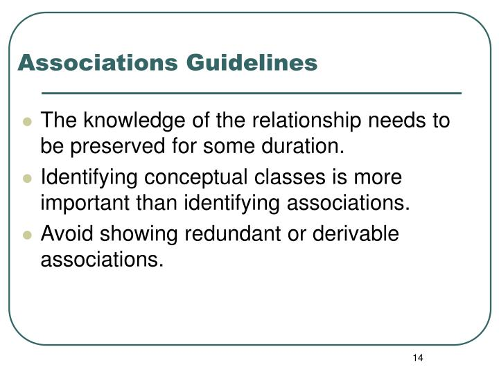 Associations Guidelines