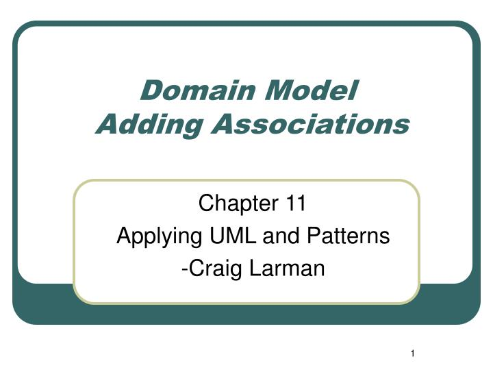 domain model adding associations