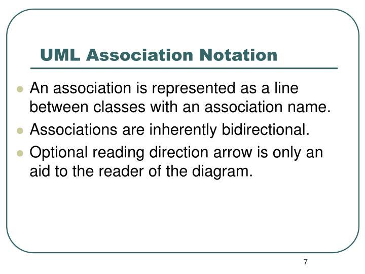 UML Association Notation