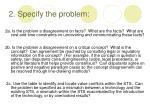 2 specify the problem