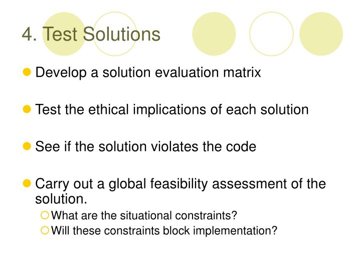 4. Test Solutions