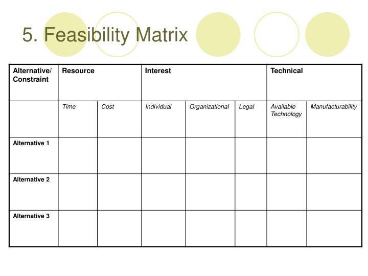 5. Feasibility Matrix