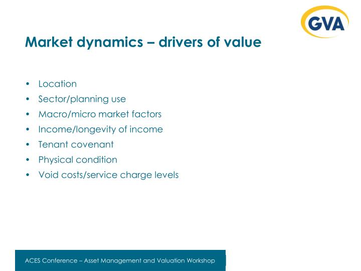Market dynamics – drivers of value