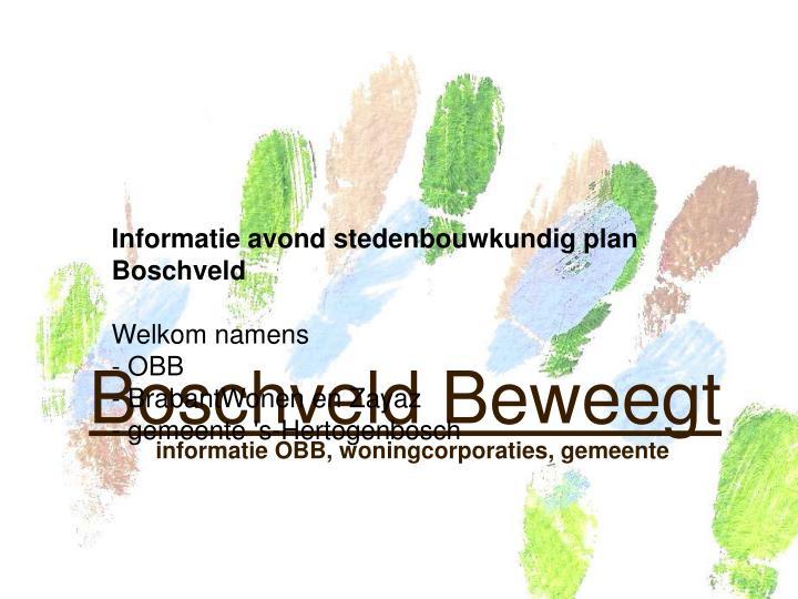 Informatie avond stedenbouwkundig plan Boschveld