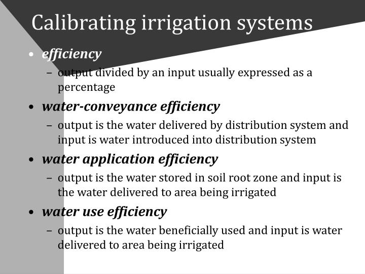 Calibrating irrigation systems