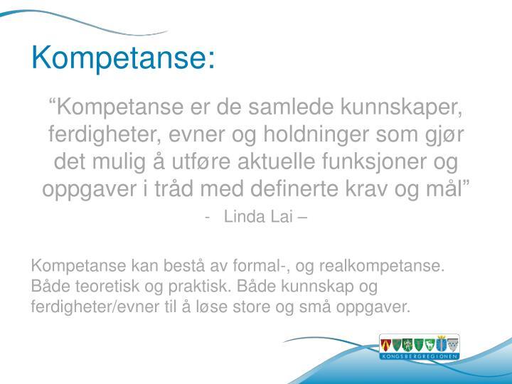 Kompetanse:
