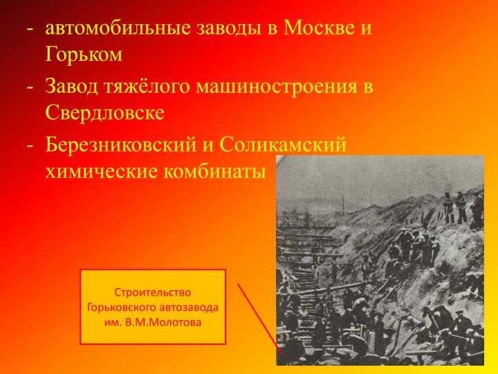 автомобильные заводы в Москве и Горьком